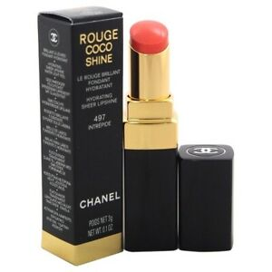 CHANEL ROUGE COCO  HYDRATING VIBRANT SHINE LIP COLOUR LIPSTICK INTREPIDE #497