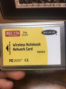 BELKIN 802.11B PCMCIA WIRELESS NOTEBOOK NETWORK CARD F5D7010