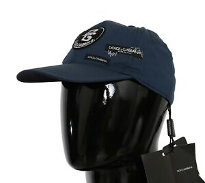 DOLCE & GABBANA Hat Cotton Stretch Blue DG Patch Baseball Cap s. 58 / M RRP $500