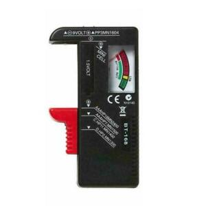 Portable Universal Battery Tester Tool AA AAA C D 9V x1 2021 U9T4 Button T6E6