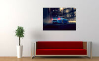 """BLUE NISSAN 370Z REAR NEW GIANT LARGE ART PRINT POSTER PICTURE WALL 33.1""""x23.4"""""""