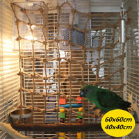 Pet Parrot Bird Climbing Net Cage Toy Swing Ladder Macaw Play Hanging Rope Hook