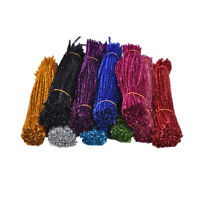 100Pcs Coloured Glitter Chenille Stems Pipe Sticks Cleaners For Art DIY CraftsHH
