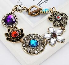 Women Jewelry Betsey Johnson Crystal retro flowers rhinestone bracelets Fashion