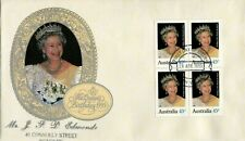 1995 Birthday of Her Majesty Queen Elizabeth II (Block of 4)FDC - Perth 6000 PMK