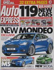 Auto Express magazine 10/2011 featuring Mini, Peugeot, Toyota, Mazda, Suzuki