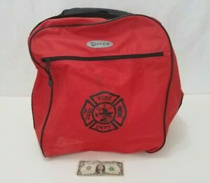 Gall's Large Firefighter Turnout Suit Carry Storage Bag Red Shoulder Strap Galls