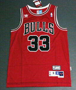 Retro Scottie Pippen #33 Chicago Bulls Basketball Jersey Stitched Red Size:S-XXL