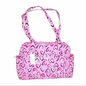 Vera Bradley Diaper Bag, Hearts Iced Pink, Purple New