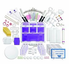 PROFESSIONAL CAKE DECORATING SET by WILTON Case & 177 Pieces Candy Pastry Tools