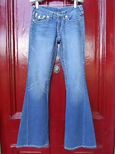 True Religion Sz 27 Joey Big T Jeans Med Wash Flare Legs Mint Condition Womens