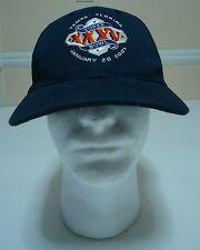 Super Bowl XXXV 35 2001 Vintage Cap Hat Tampa Florida Football Dark Blue Vintage