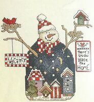 Janlynn Counted Cross Stitch Kit Holiday Snowman Snow Boarders #83-202 NWT
