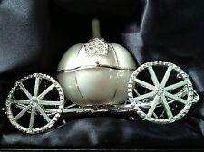 Cinderella Coach Pearl Diamante Keepsake Trinket Box Wedding Day Decoration