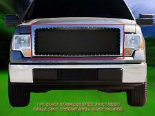 For 09-12 Ford F-150 F150 Black Stainless Steel Rivet Mesh Grille Insert Fedar