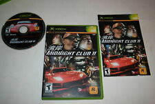 Midnight Club II Microsoft Xbox Video Game Complete
