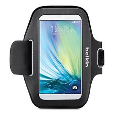 Belkin Sport-Fit Armband Hand Washablefor Samsung Galaxy S6 s6 Edge Black NEW