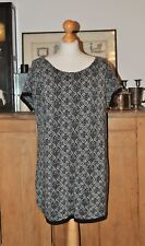 LADIES ORIGINALS BLACK AND WHITE JUMPER / DRESS / TUNIC SIZE L