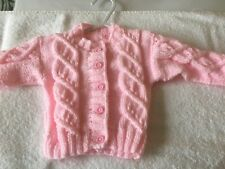 Selection Of New Hand Knit Baby Cardigans 0-3 Months
