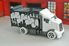 Hot Wheels Hiway Hauler 2 - Black & White - Loose - 1:64