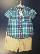 Oshkosh B'gosh Little Boys Two PC Set Shirt And Short New Size 3 T