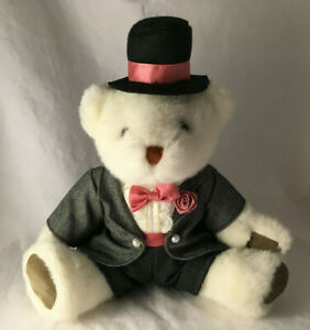 "Vintage Bearland Jointed Groom Wedding Teddy Bear Plush - Stuffed Animal 13"""