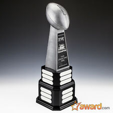 """Fantasy Football Trophy Perpetual - 24 Years - 22""""- Free Engraving- Ships 1 Day"""