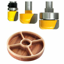 "3pc 1/2"" SH 3/4, 1-1/4 & 1-3/8 Bowl, Dish, Tray Carving  Router Bit Set  sct-888"