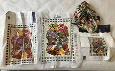 Vintage DMC long stitch tapestry kit 579738 flower pots garden 30 x 40cm