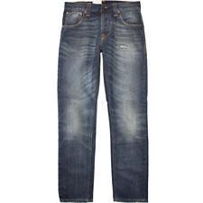 W32 L34 32/34 NUDIE jeans SHARP BENGT CAREFULLY WORN INDIGO BLUE REGULAR TAPERED