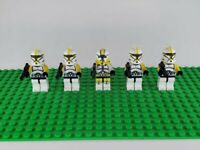 Star Wars Minifigures Yellow Clones Trooper And Commander Lot (Not made by Lego)