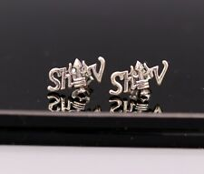 Earrings Fabulous Mahakal Shiva Studs s133 Hindu Lord Gold Shiva 925 Silver Stud