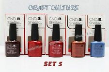SET 5 Colors CND SHELLAC UV Gel Polish CRAFT CULTURE Fall Winter 2016 Collection