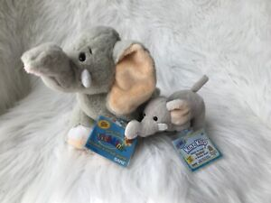 WEBKINZ SET OF 2 VELVETY ELEPHANT 🐘- REGULAR  + KEY CLIP - NEW W/ SEALED CODE