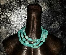 Multi Strand Turquoise Magnesite Statement Necklace Professional Classy Business
