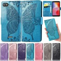 Butterfly Wallet Leather Flip Case Cover For Xiaomi Redmi Note 8T Note 8 6A 8 8A
