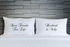 Couples Pillow Cases Husband and Wife Friends Life Pillow Cover Bedding Wsd855