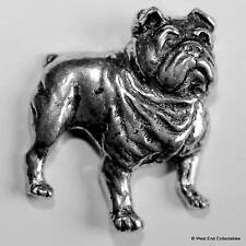 Bulldog Pewter Pin Brooch - British Hand Crafted - Churchill, English, American