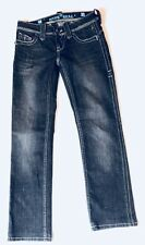 Sang Real by miss me straight cut jeans women's size 26 black princess charlotte