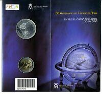 Cartera FNMT Moneda 12 euros plata  + 2 euros 50 Aniversario Tratado Roma 2007