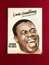 "1952, Louie Armstrong, Vintage Concert Program (Scarce)  ""SATCHMO"""