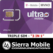 Ultra Mobile Triple Sim Mini + Micro + Nano • Gsm 4Glte • T-Mobile Network Mvno
