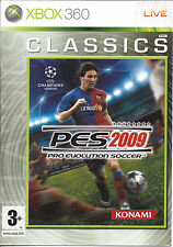 PRO EVOLUTION SOCCER PES 2009 for Xbox 360 CLASSICS - with box & manual - PAL