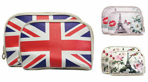 2x Kosmetiktasche Kulturtasche Schminktasche Wash Bag Make Up Beauty Case Set T4