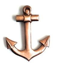 Copper plated Ships Anchor pin badge ships captains hat badge