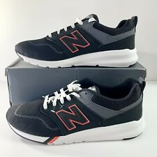 NEW! Men's New Balance 009 Classic Casual Sneakers Black/Red Sz 12 MS009MB1 Shoe