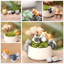6pcs/set Plutus Cat Fairy Home Garden Decor Miniature Dollhouse Ornament