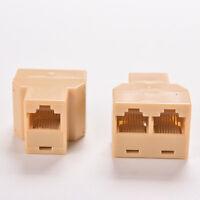 RJ45 CAT5 6 Ethernet-Kabel LAN-Anschluss 1 bis 2-Buchse Stecker-Adapter PC RW