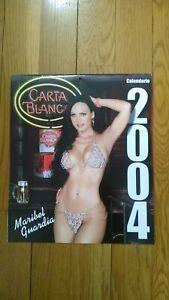 CERVEZA CARTA BLANCA 2004 MARIBEL GUARDIA CALENDAR ~ EXCELLENT CONDITION