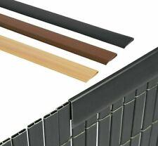 5er Set PVC Zaunschiene Endstreifen für Balkone, Zäune, Garten Sichtschutzmatte
